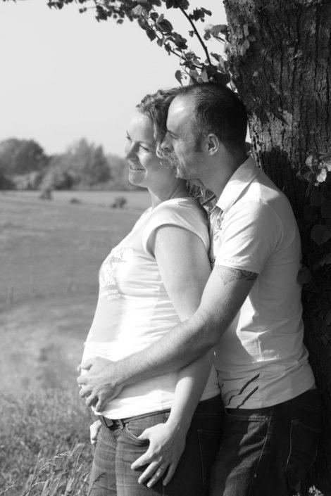 Zwangerschapsshoot op locatie